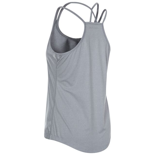 Meghan Women's Sleeveless Active T-shirt in Light Grey