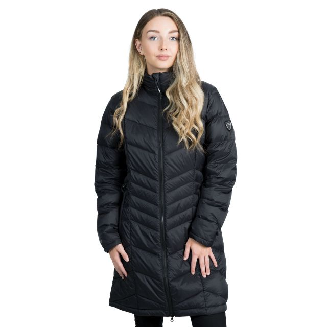 Trespass Womens Down Jacket Lightweight Micaela in Black