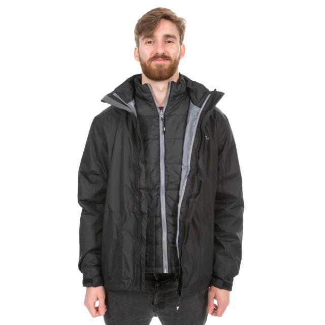 Pembroke Men's 3-in-1 Waterproof Jacket  in Black