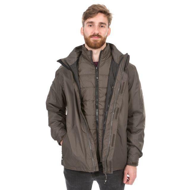 Pembroke Men's 3-in-1 Waterproof Jacket  in Khaki