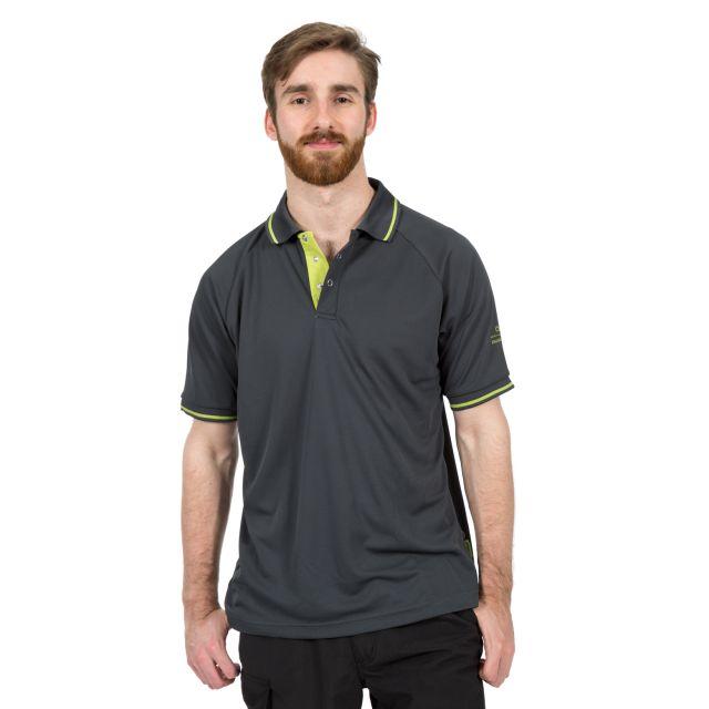 Bonington Men's Quick Dry Polo Shirt in Grey