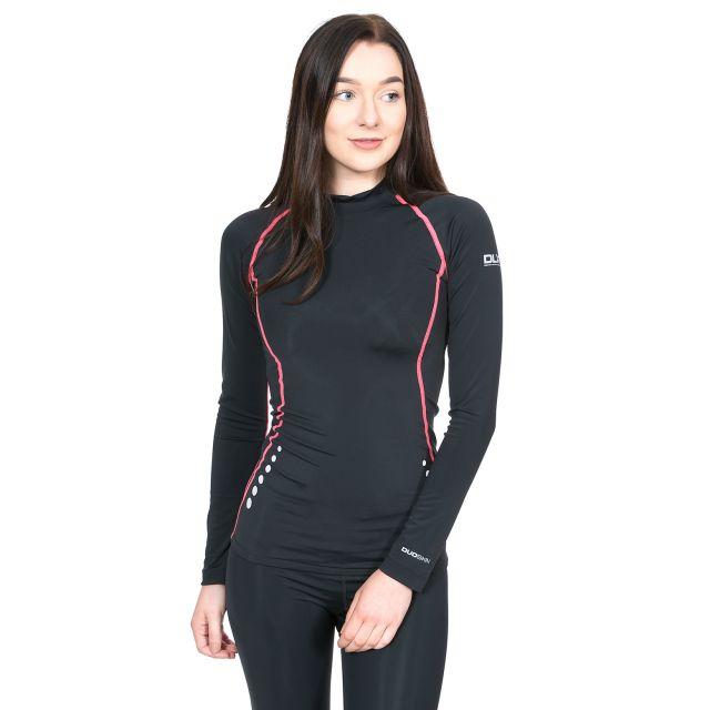 Dasha Women's DLX Long Sleeve Thermal T-shirt in Black