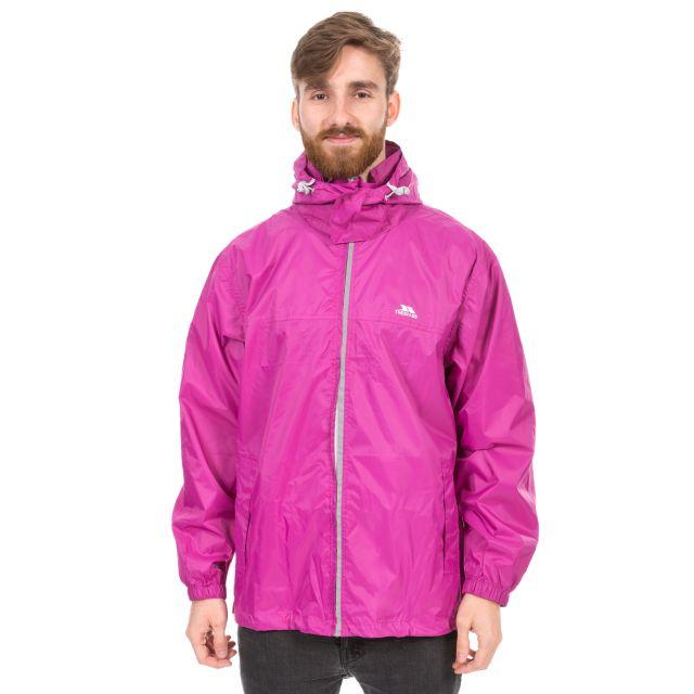 Packup Unisex Waterproof Packaway Jacket in Pink