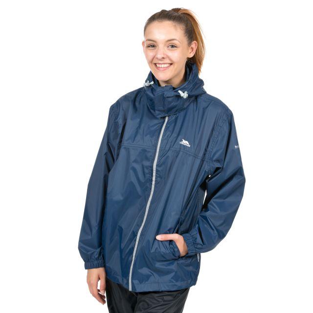 Packup Unisex Waterproof Packaway Jacket in Navy