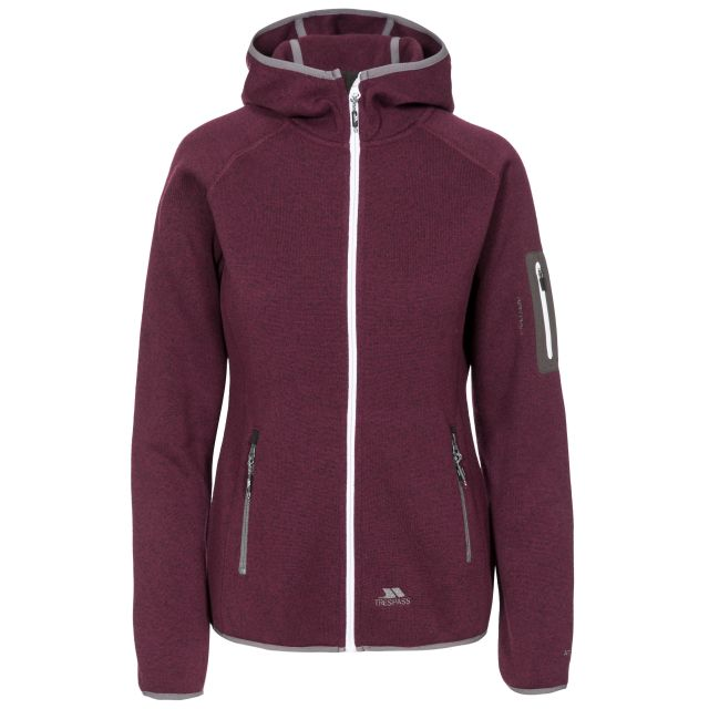 Mona Lisa Women's Full Zip Fleece Hoodie in Purple