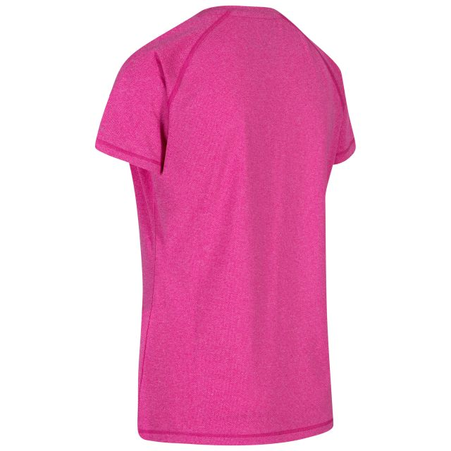 Monnae Women's DLX Quick Dry Active T-shirt in Pink