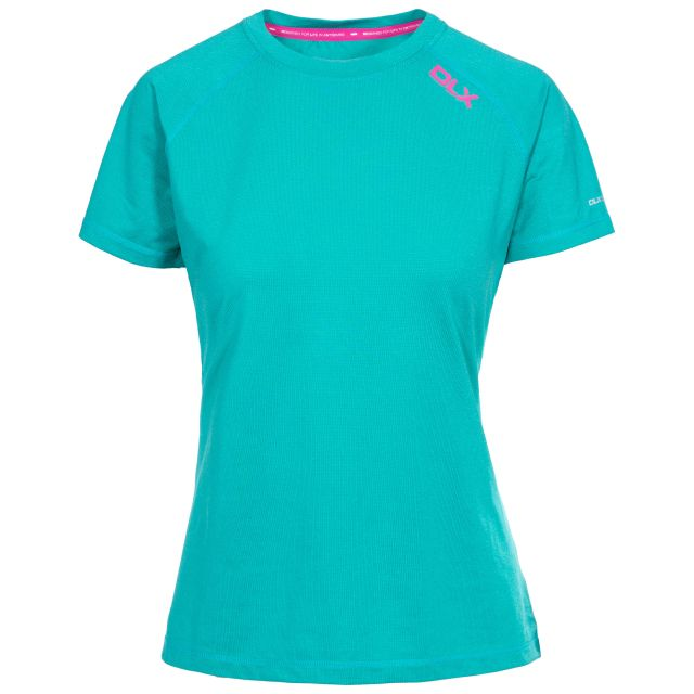 Monnae Women's DLX Quick Dry Active T-shirt in Green