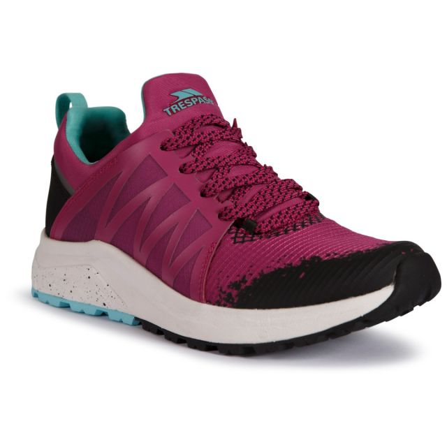 Trespass Women's Casual Lightweight Trainer Morven Berry, Angled view of footwear