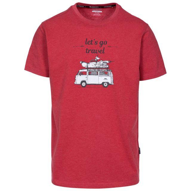 Motorway Men's Printed Casual T-Shirt in Red