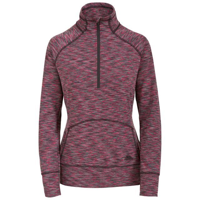 Moxie Women's 1/2 Zip Long-Sleeve Top in Pink