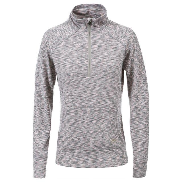 Moxie Women's 1/2 Zip Long-Sleeve Top in Light Grey