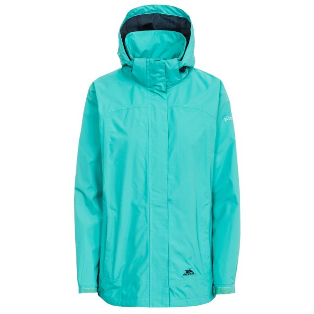 Trespass Womens Waterproof Jacket Nasu II in Light Blue