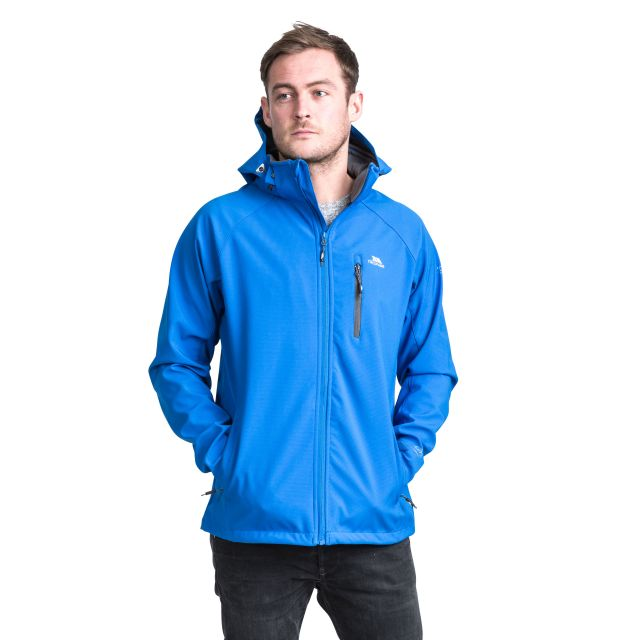 Nider Men's Hooded Softshell Jacket in Blue