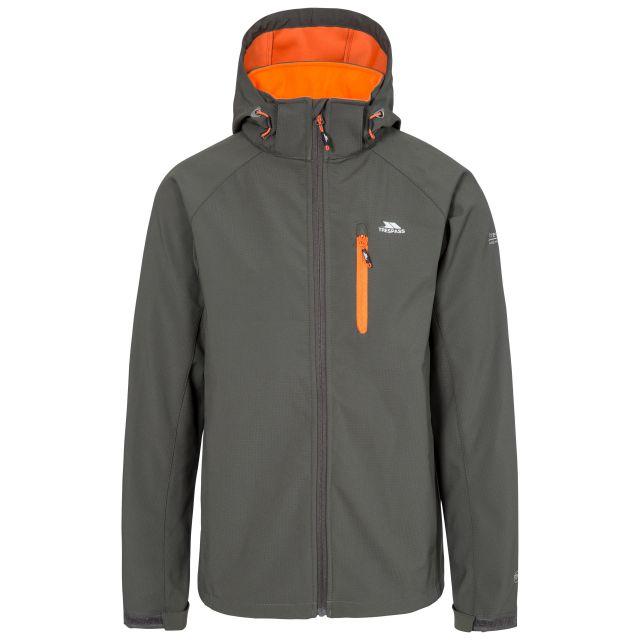 Nider Men's Hooded Softshell Jacket in Grey