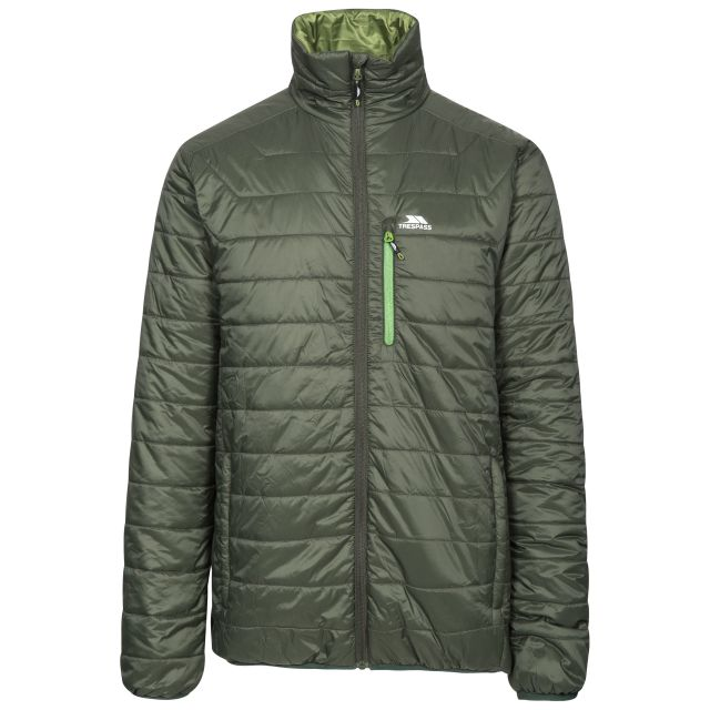 Norman Men's Lightweight Padded Casual Jacket in Khaki, Front view on mannequin