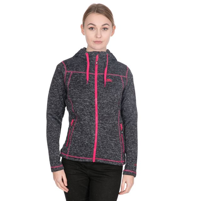 Odelia B Women's Pink Knitted Fleece in Black