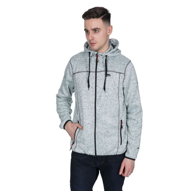 Odeno Men's Fleece Hoodie in Light Grey
