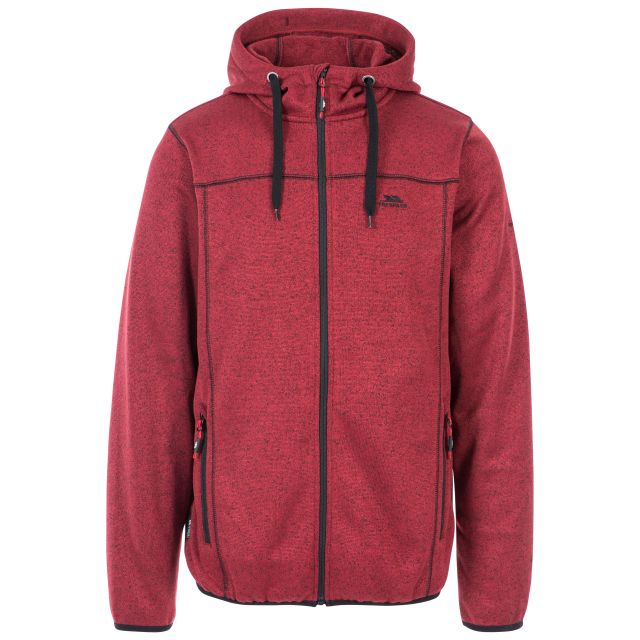 Odeno Men's Fleece Red , Front view on mannequin