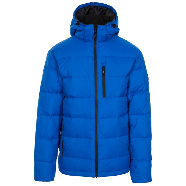 Orwell Men's Hooded Down Jacket in Blue