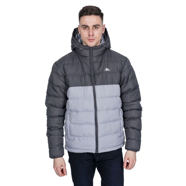 Oskar Men's Padded Water Resistant Jacket in Grey