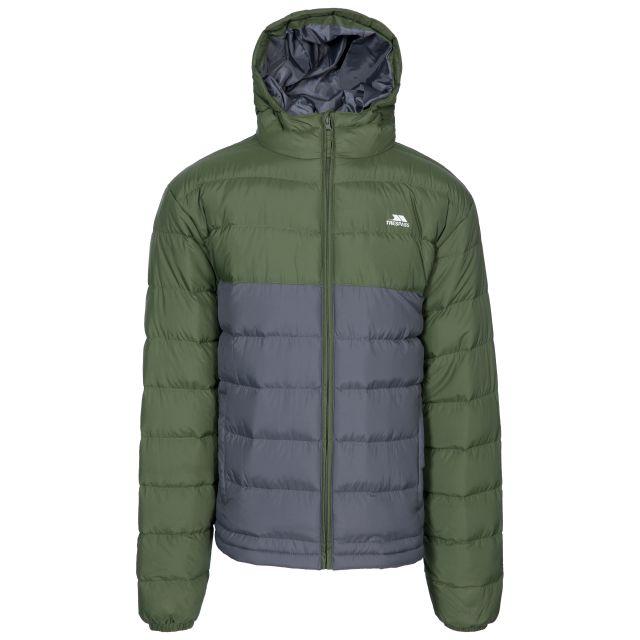 Oskar Men's Padded Water Resistant Jacket in Khaki