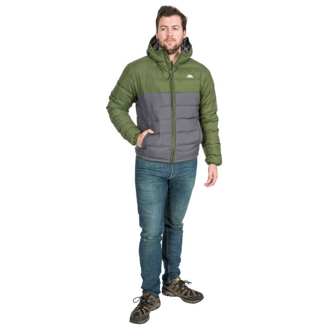 Oskar Men's Padded Water Resistant Jacket in Khaki