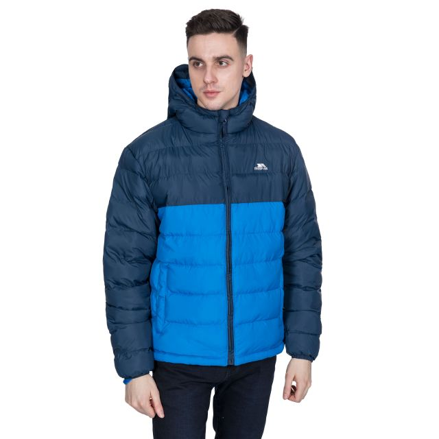 Oskar Men's Padded Water Resistant Jacket in Navy