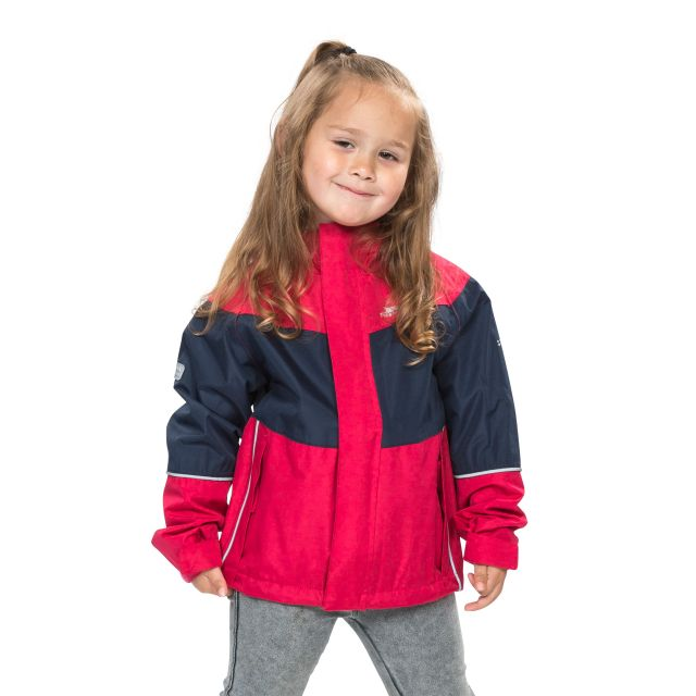 Ossie Kids' Waterproof Jacket in Pink