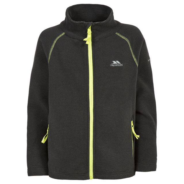 Ottis Boys Full Zip Fleece Jacket in Grey