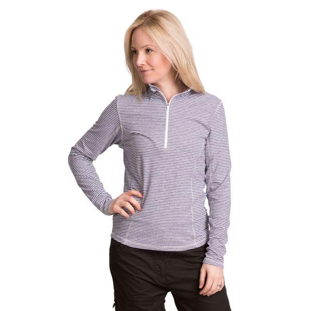 Overjoy Women's 1/2 Zip Long Sleeve Active Top in Navy