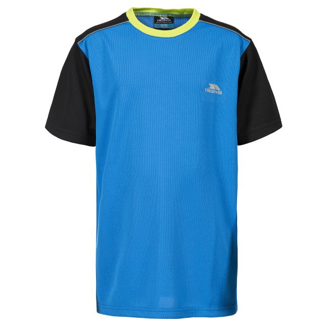 Overlap Kids' Quick Drying Active T-Shirt in Blue