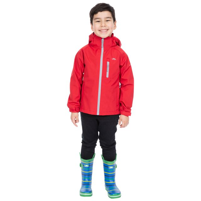 Overwhelm Kids' Waterproof Jacket in Red