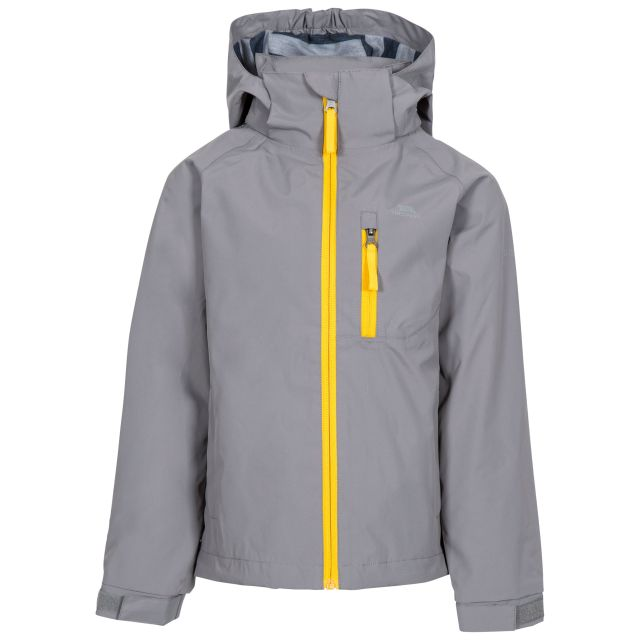 Overwhelm Kids' Waterproof Jacket in Grey