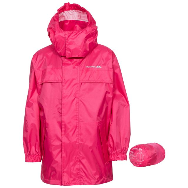 Packa Kids' Waterproof Packaway Jacket in Peach