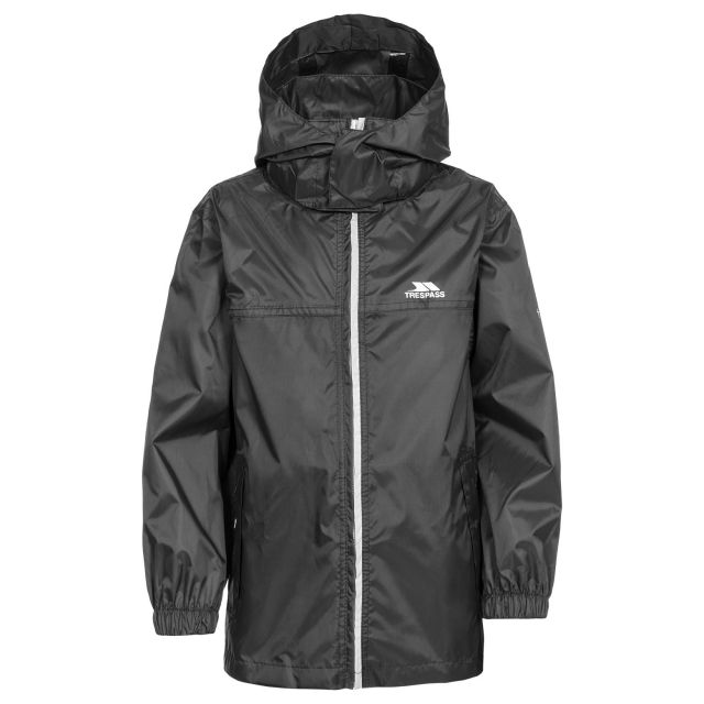 Packup Kids' Packaway Jacket in Black