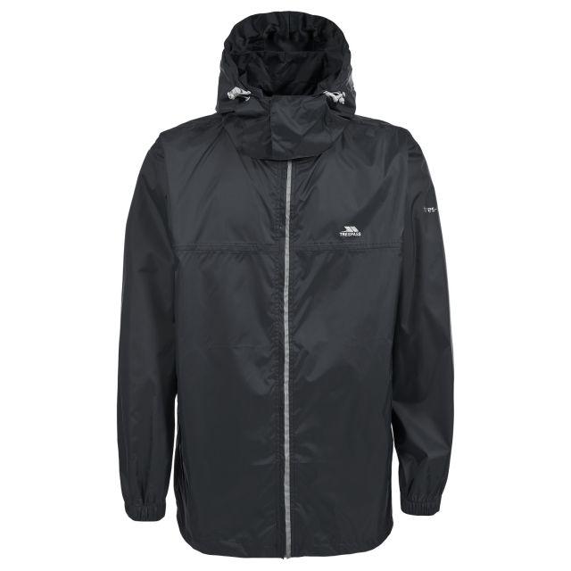 Packup Adults' Waterproof Packaway Jacket in Black