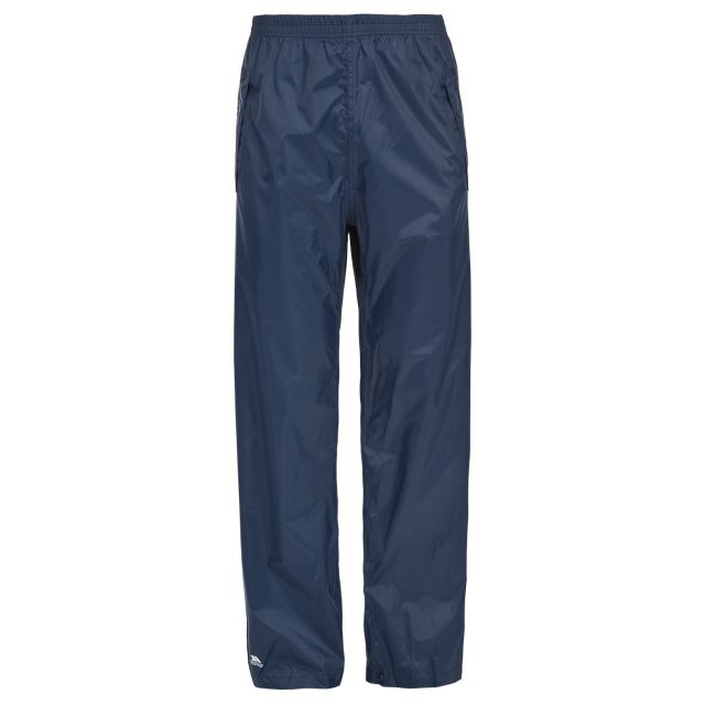 Packup Unisex Packaway Waterproof Trousers in Navy