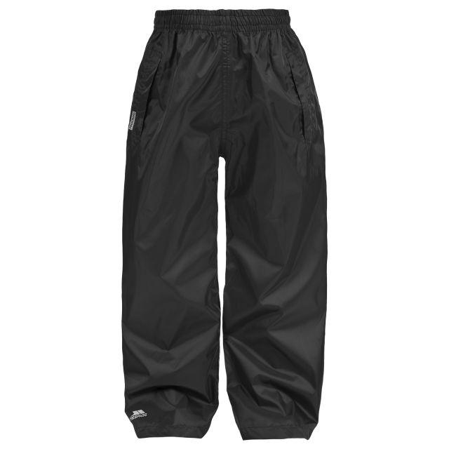 Packup Kids' Packaway Waterproof Trousers in Black