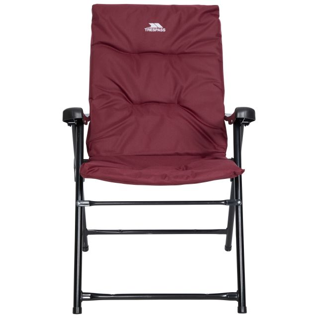 Trespass Folding Padded Camping & Garden Deck Chair Paddy in Maroon
