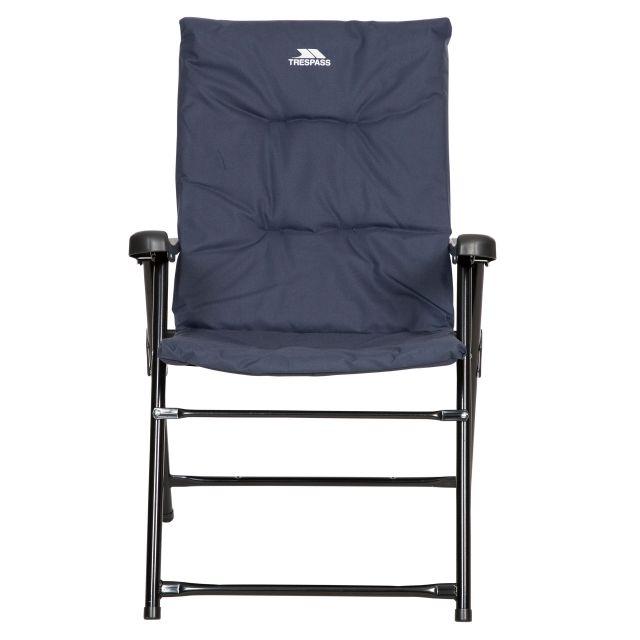 Trespass Folding Padded Camping & Garden Deck Chair Paddy in Navy