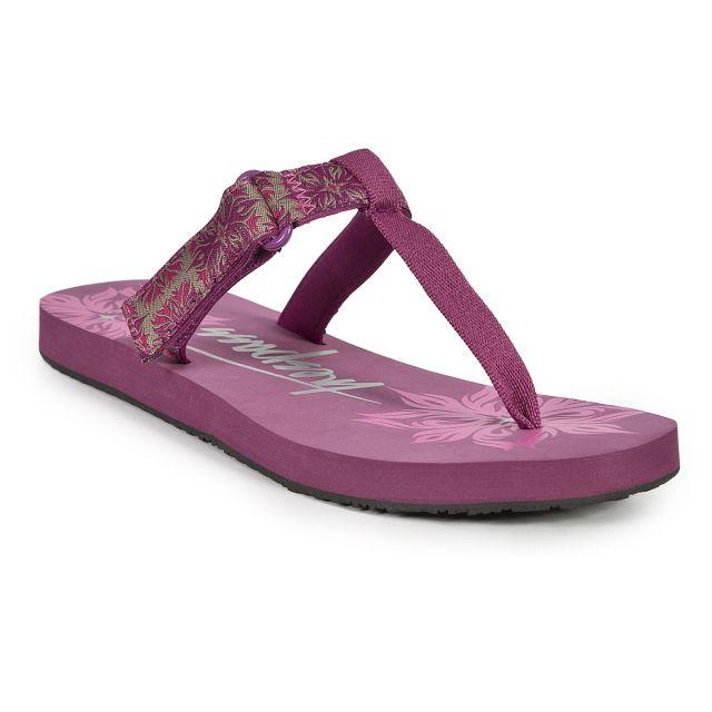 Panora Women's Velcro Flip Flops in Pink