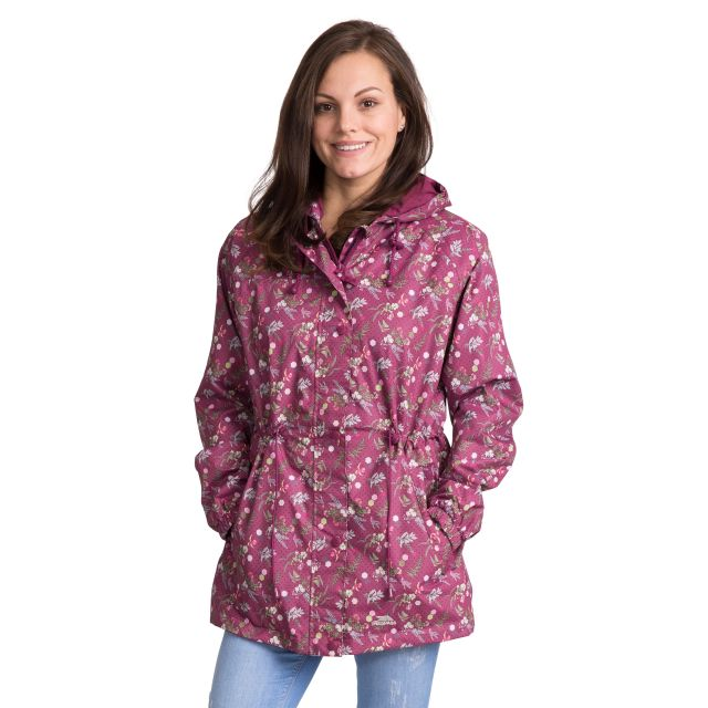 Pastime Women's Printed Waterproof Jacket in Pink