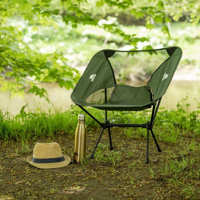 Trespass Lightweight Folding Chair 1.5kg Perch in Khaki