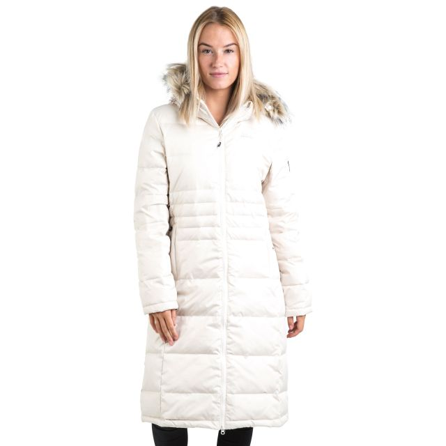 Trespass Womens Down Parka Jacket Long Phyllis in White