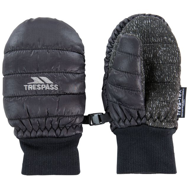Pikidino Kids' Waterproof Mittens in Black