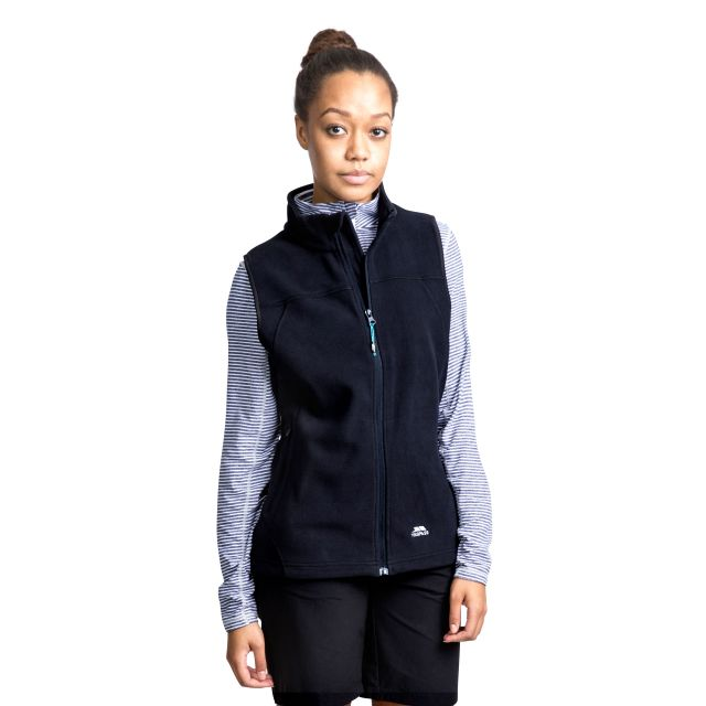 Pria Women's Fleece Gilet in Black