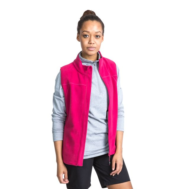 Pria Women's Fleece Gilet in Pink