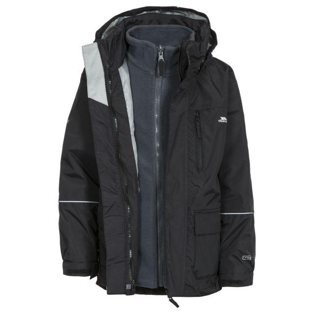 Prime II Kids' 3-in-1 Waterproof Jacket in Black