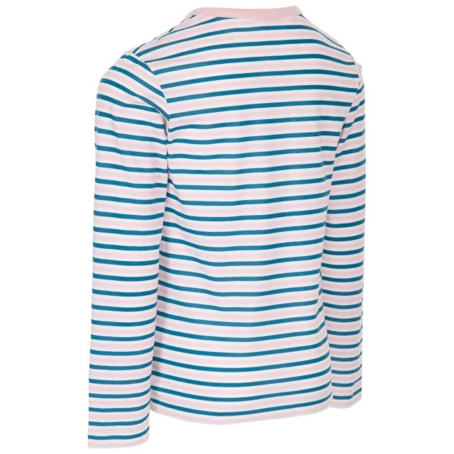 Trespass Kids Long Sleeve top Round Neck Stripe in Blue Proceeds