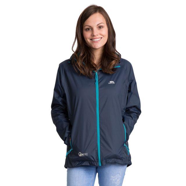 Qikpac Women's Waterproof Packaway Jacket in Navy
